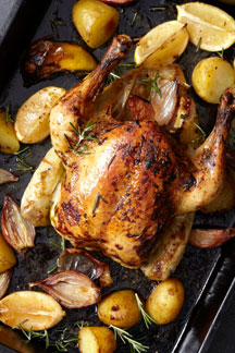 Roast Chicken with Pronto Mama Caramelised Garlic and Jalapeno Paste