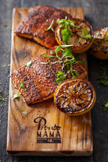 Smoked Cajun Salmon on Pronto Mama Smoking Board