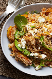 Spicy Quinoa Salad with Pronto Mama Harissa Sauce